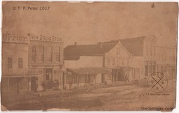 AR-00003aCC  [Fayetteville Square - c. 1872 - North Side - James R. Howerton]