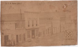 AR-00005aCC  Fayetteville Square - c. 1872 - South Side - James R. Howerton